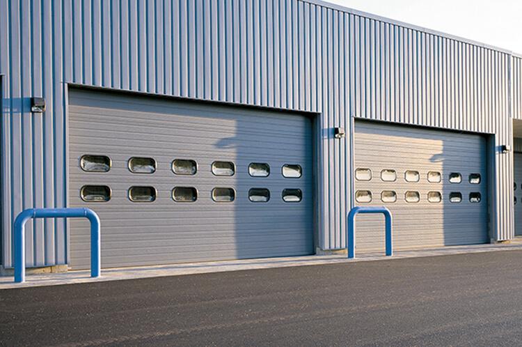 sectional steel door 422 wide